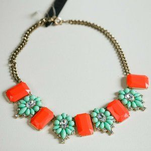 J Crew Statement Bib Floral Necklace Colourful